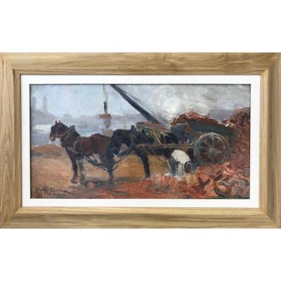 Claude Firmin (1864-1944)- Les Quais De Seine, Paris 1908