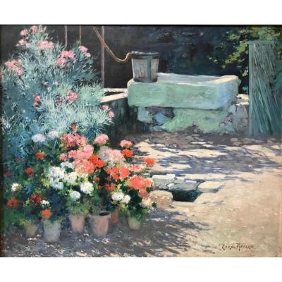 Marius Roux-Renard (1870-1936)- Orange-Avignon-fleurs-Provence