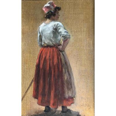 Eugène Léon Labitte (1858-1935) Bretagne-Concarneau