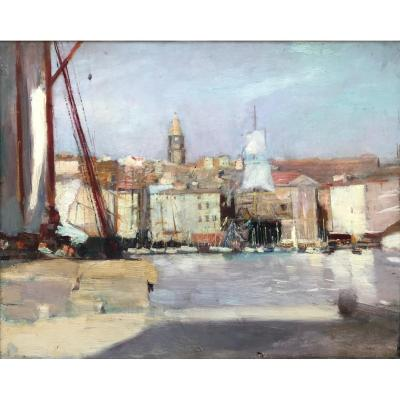 Claude Firmin (1864-1944) -avignon-provence-the Port Of Marseille