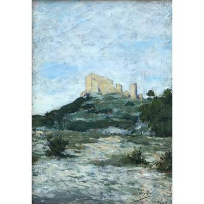 The Castel Of Thouzon By The French Artist Victor Leydet (1861-1904)
