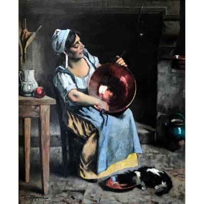 Marius Roux-renard (1870-1936) -the Coppers-provence-comtadine-avignon-orange