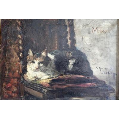 "Jean-baptiste Olive (1848-1936) -le Chat ""minou"", Marseille-provence-1881"