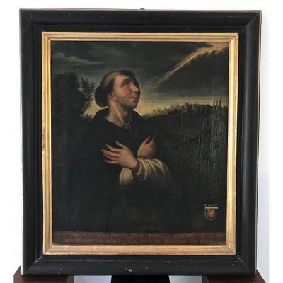 Portrait Du Padre Fray Dyonisio Martiny De l'Ordre St.domingo. Espagne-Madrid-Barcelone
