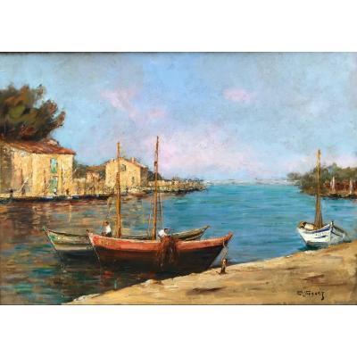 Charles Vionnet (1858-1923)-Avignon-Provence-Vue de Martigues