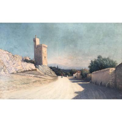Johannes Son (1859-1942)-Lyon-Avignon-Provence-Tour Philippe Le Bel à Villeneuve