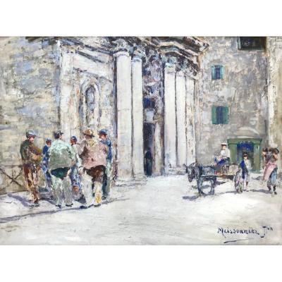 Joseph Meissonnier (1864-1943)-Avignon-Provence-Eglise Sainte Marie à Martigues-Groupe des Trei