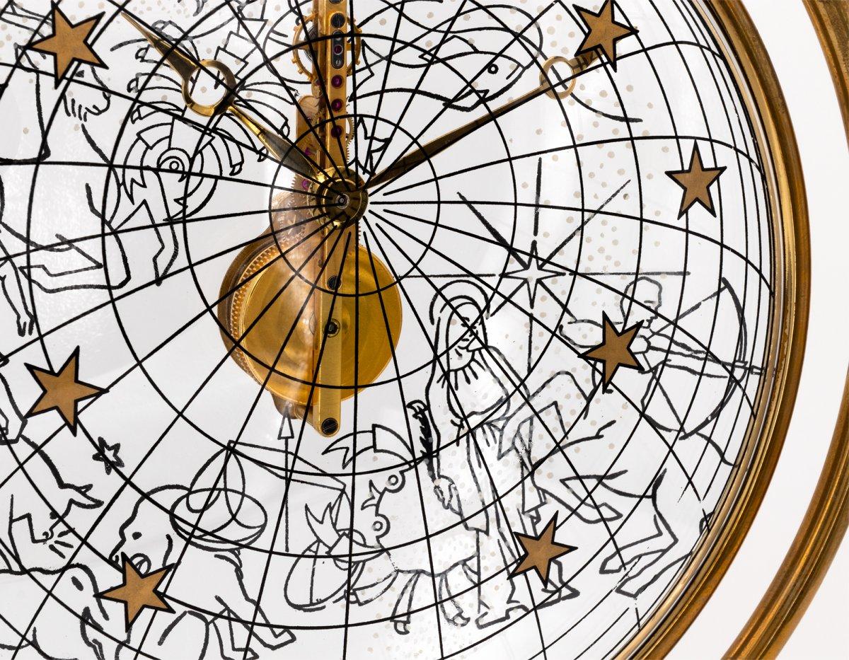 Jaeger-lecoultre Zodiaque Montre Pendulette, Baguette Mouvement-photo-2