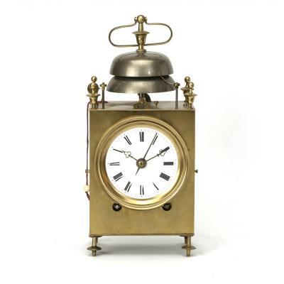 Pendulette d'Officier Suisse, Sonnerie Heures Et Demi-heures Et Alarm