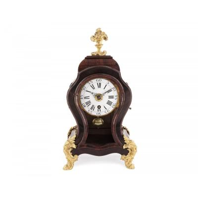 Small Swiss Clock Signed J.robert, Chime At Quarter And Hours On Request