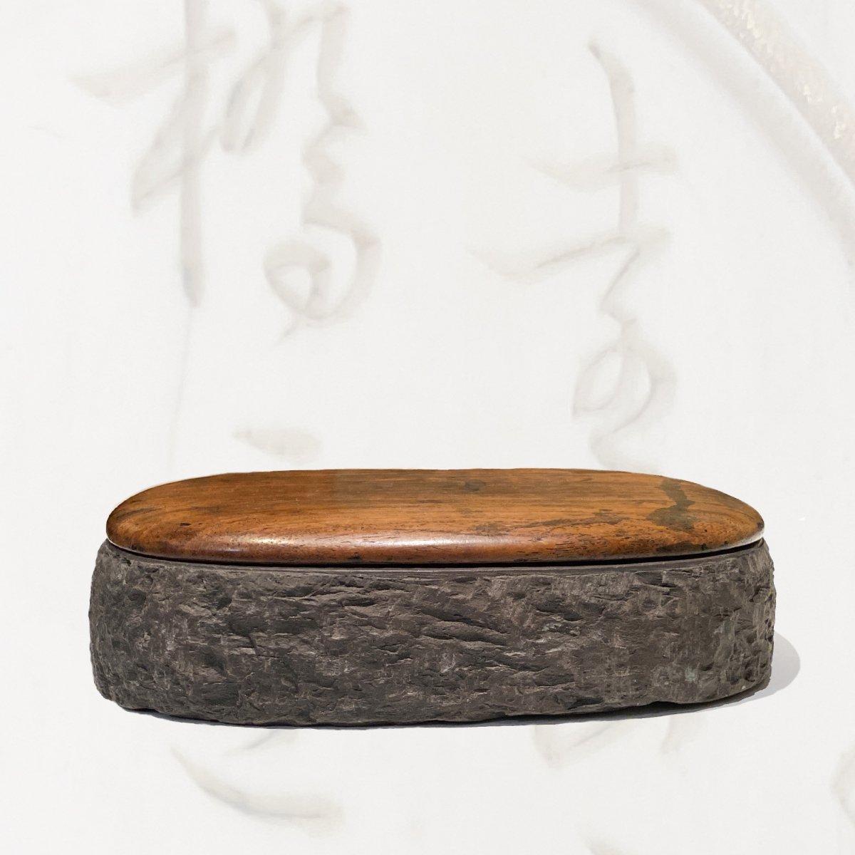 Chine, Pierre à Encre Pour La Calligraphie, Fin De L'époque Qing