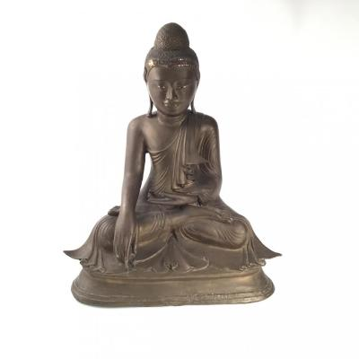 Grand Bouddha Birman En Bronze.