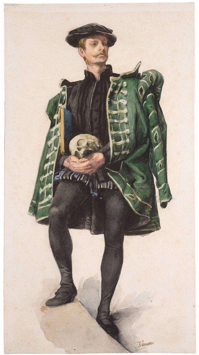François-Emile EHRMANN (Strasbourg 1833 - Paris 1910)     HAMLET