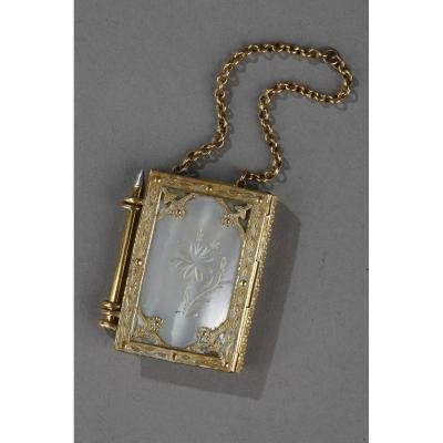 Carnet De Bal Miniature. Epoque Charles X. Circa 1820.