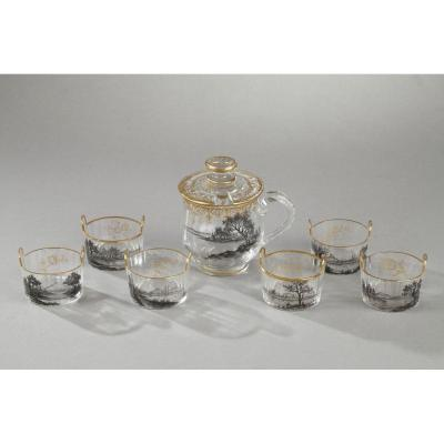 Daum Nancy Set. Circa 1890.