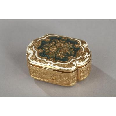 Gold And Enamel Box. Late 19th-century.