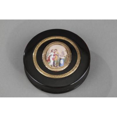 Gold, Enamel, Tortoiseshell Box, Louis XVI Period.