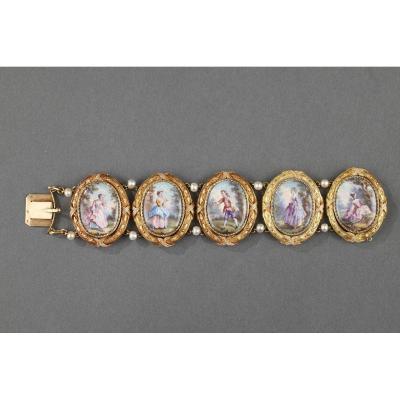 Bracelet En Or Et émail. Napoléon III.