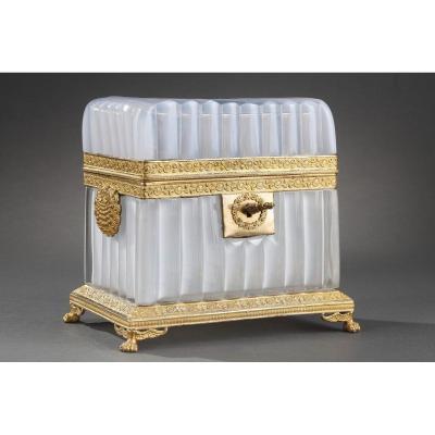 White Opaline Box – Charles X Period.