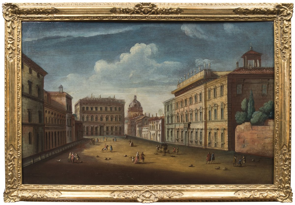 View Of Rome Of Square Holy Apostles