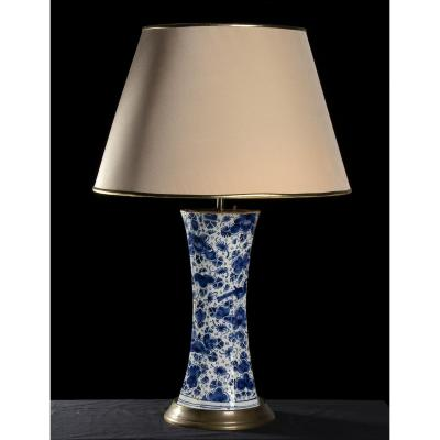 Vase With Delft Blue Ceramic Table Lamp