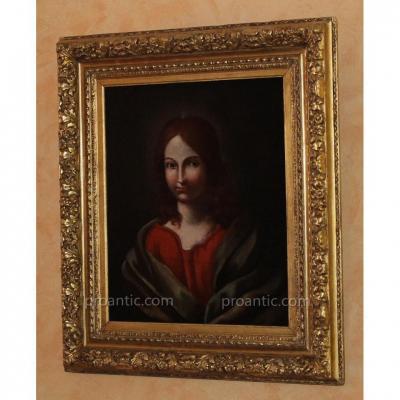 Portrait De Christ Androgyne école Lombade Du16e Siècle