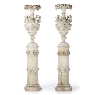 Paire De Vases Grande Dimensions France XIXeme Siecle