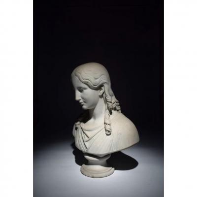 """Sculpture Française XVIIIeme Siecle """" Buste Femme """""""
