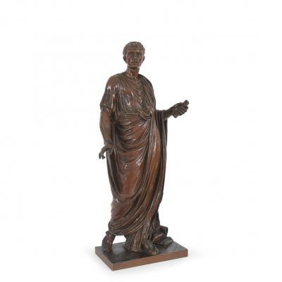Mathurin Moreau ( 1822 / 1912 ) Sculpture Jules Cesar