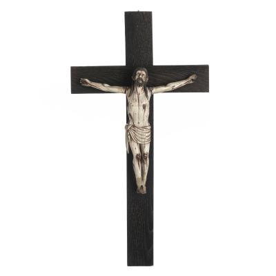 Jesus Christ Crucifie' Ivoire XVII Eme Siecle