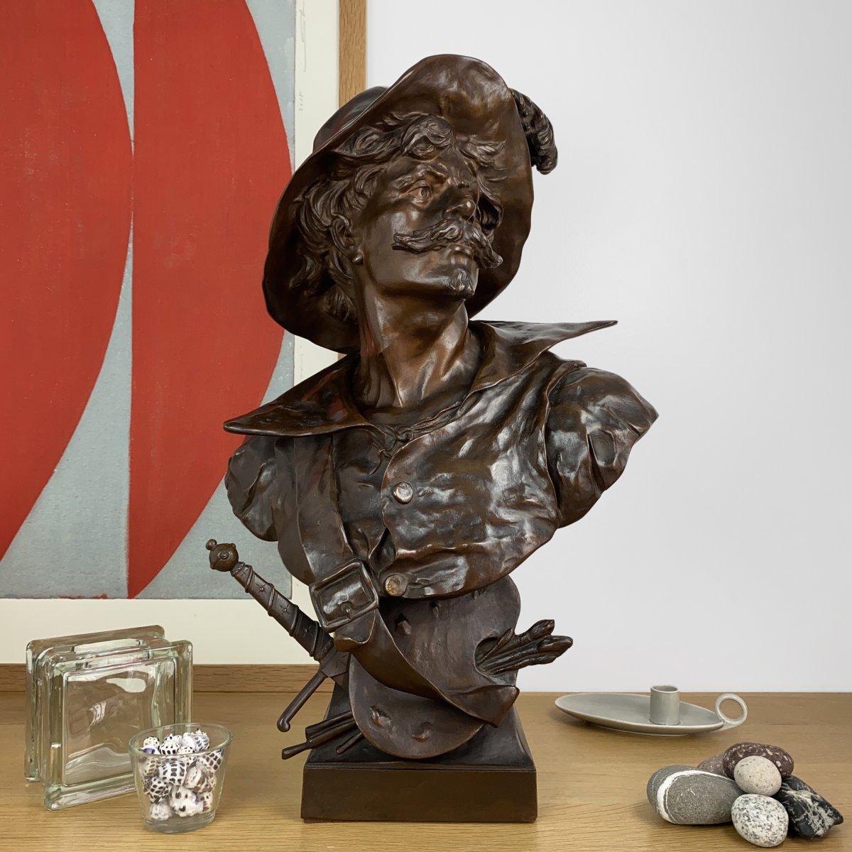 Buste de Salvator Rosa par Émile Louis Picault (1833-1915)