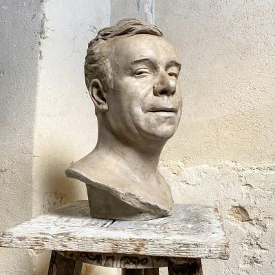 Léopold Bernhard Bernstamm (1859-1939). Buste de l'acteur de la Comédie Française Coquelin aîné.