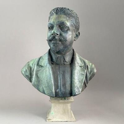 Gustave Michel (1851-1924) - Bust Of A Notable Auvergnat