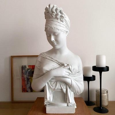 Bust Of Madame Récamier In Porcelain Biscuit.
