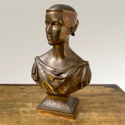 Portrait de l'actrice Elisabeth-Rachel-Félix, dite Rachel par Dantan le Jeune