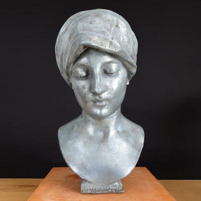 Denys Puech (1854-1942) - Buste de jeune femme