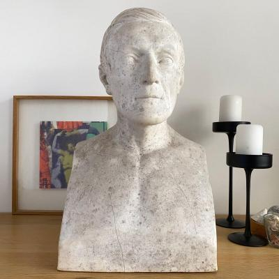 Bust Of A Man In The Antique - Plaster Dated 1862.