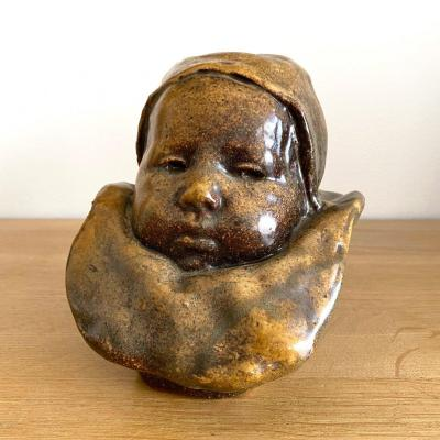 Jean Carriès (1855-1894). Baby With A Collar, Known As