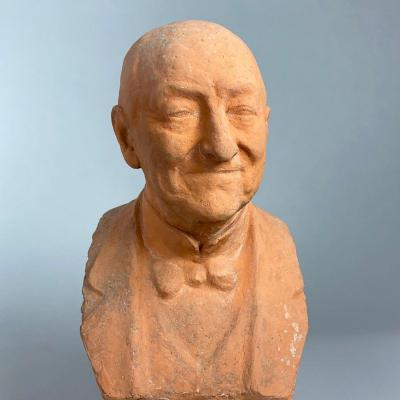 Bust Of A Man Signed P. Mathy