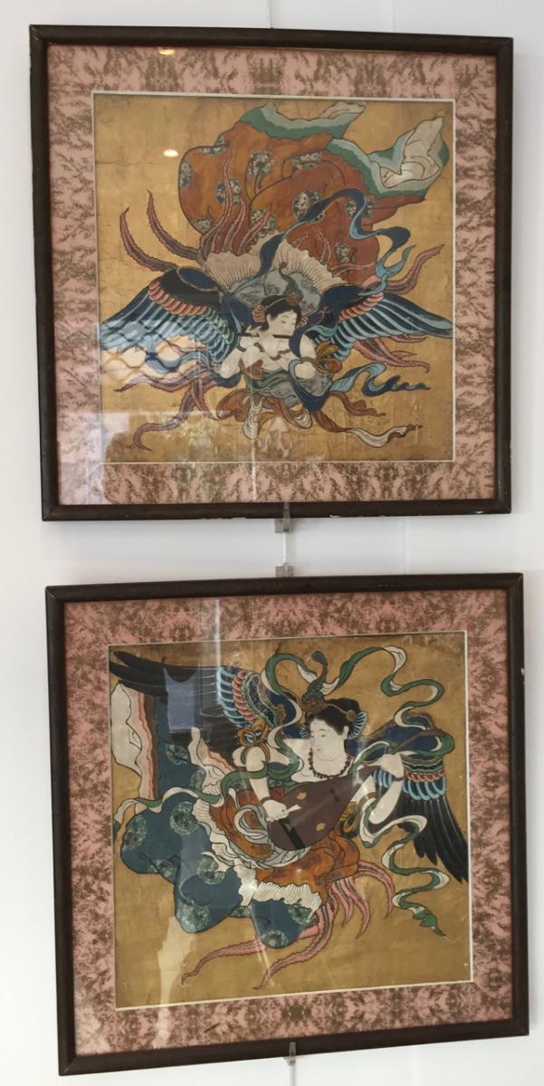 Paire De Peintures Chinoise XIX Eme