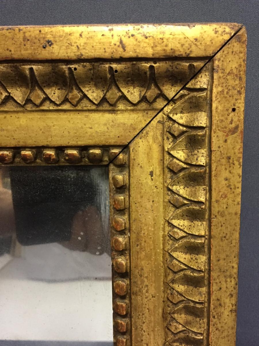 Miroir époque Louis XVI En Bois Doré