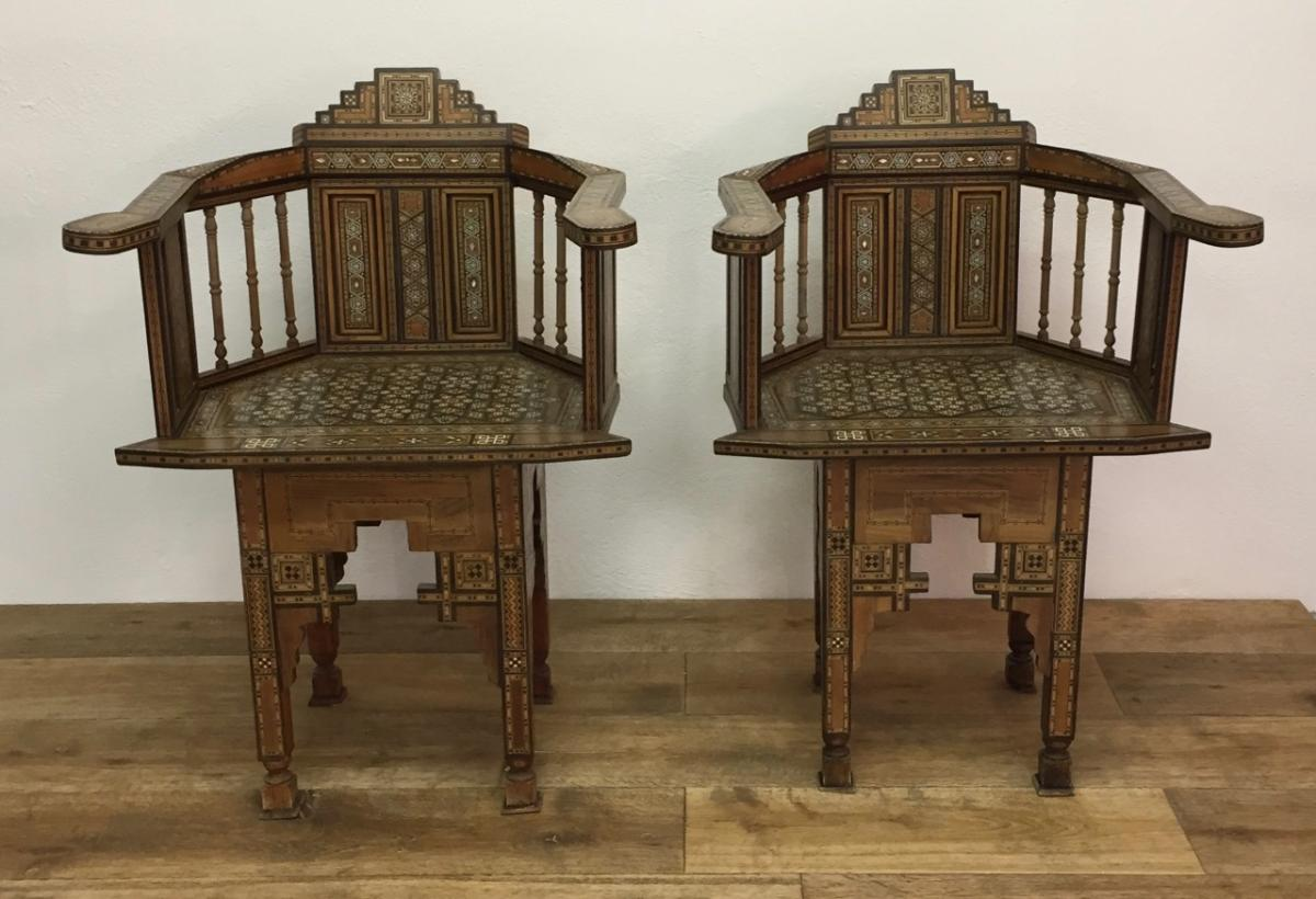 Pair Of Syrian Armchairs