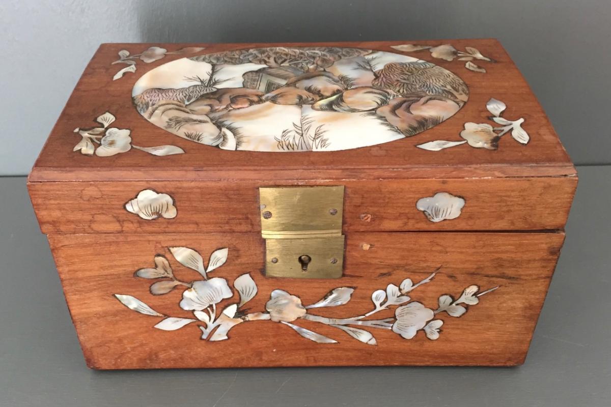 Indochina Gift Box End Of XIX Eme Century