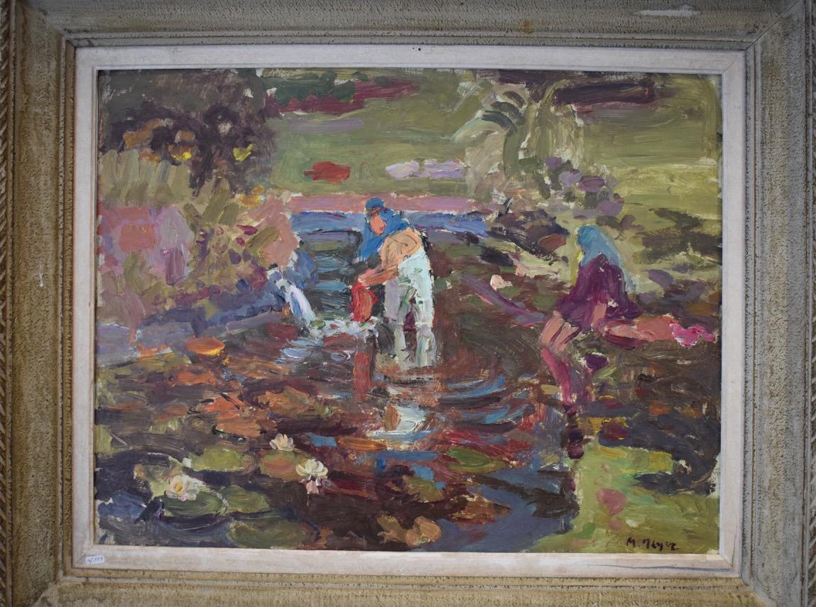 Orientalist Painting Signed M. Meyer