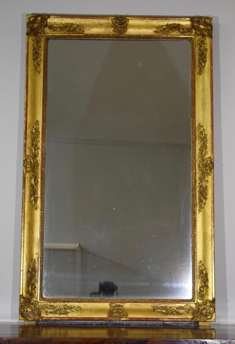 Restoration Mirror In Wood And Stucco Gilded