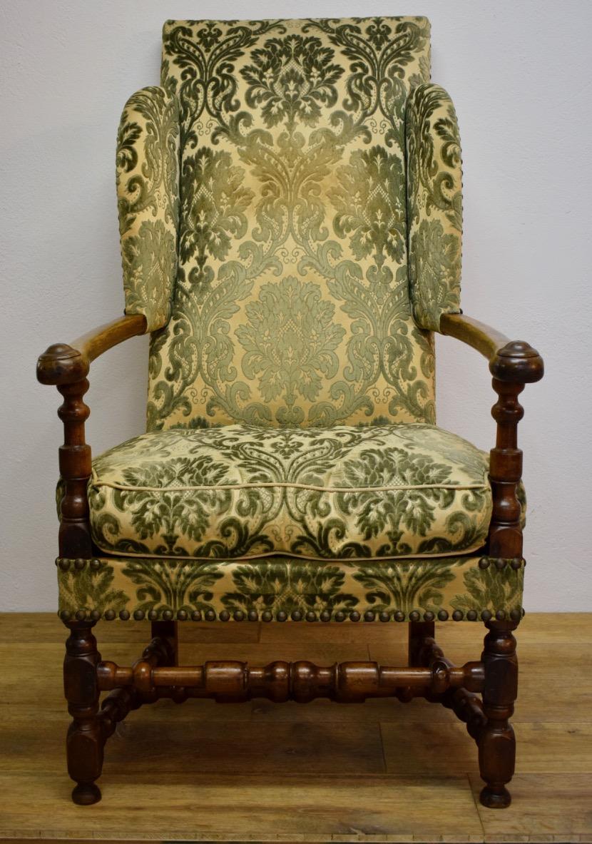 Large Armchair D Louis XIII Walnut