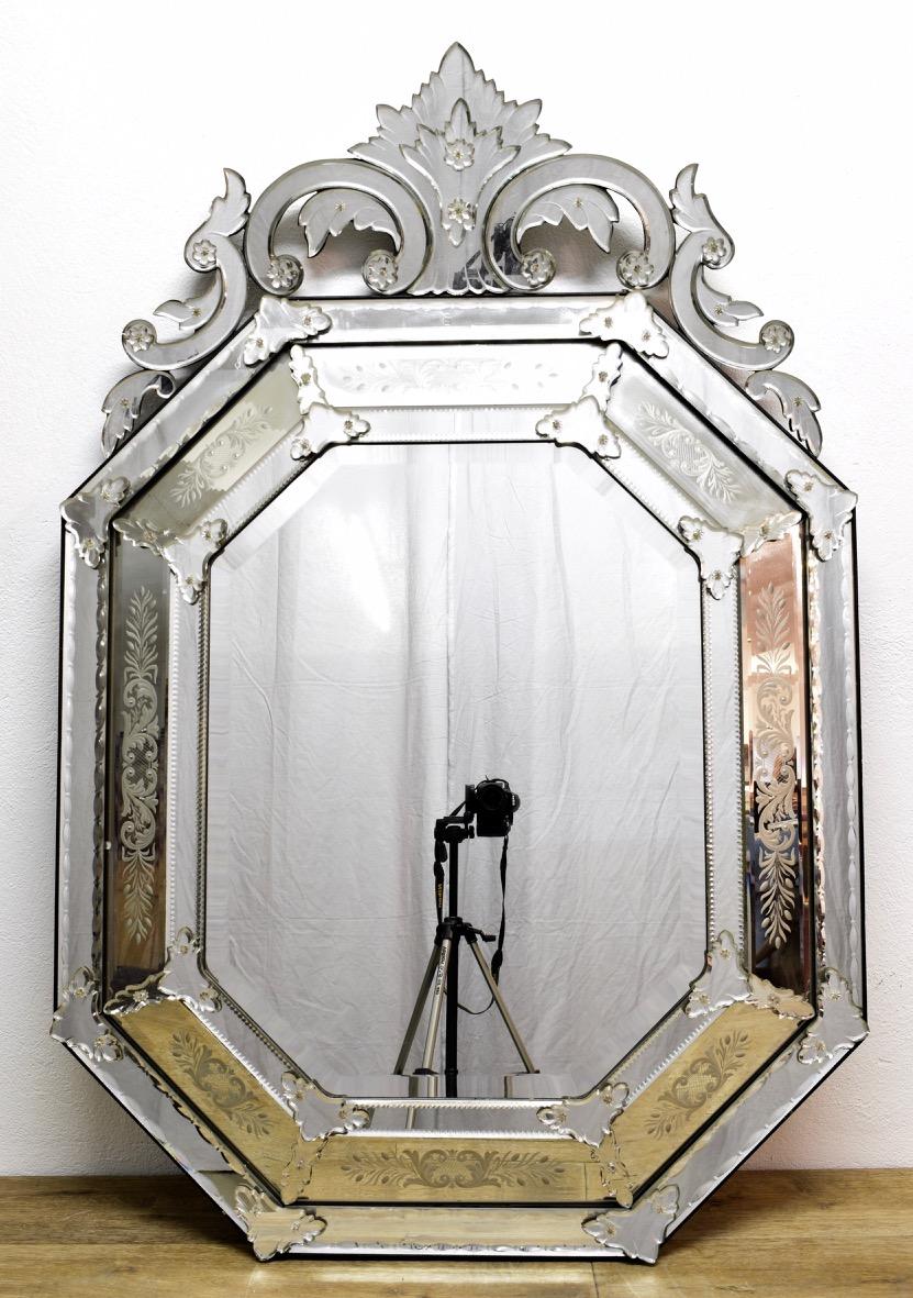 Grand Miroir Vénitien A Fronton