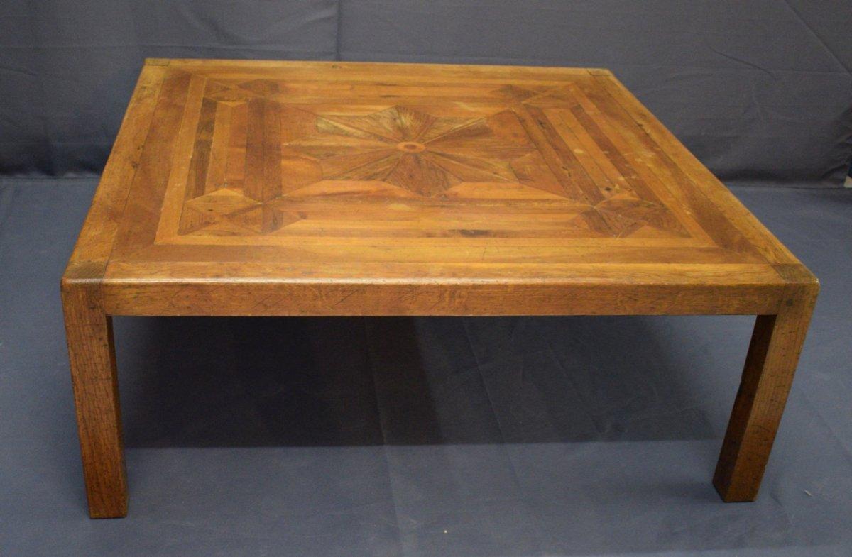 Grande Table Basse Bois grande table basse en bois parqueté - tables basses