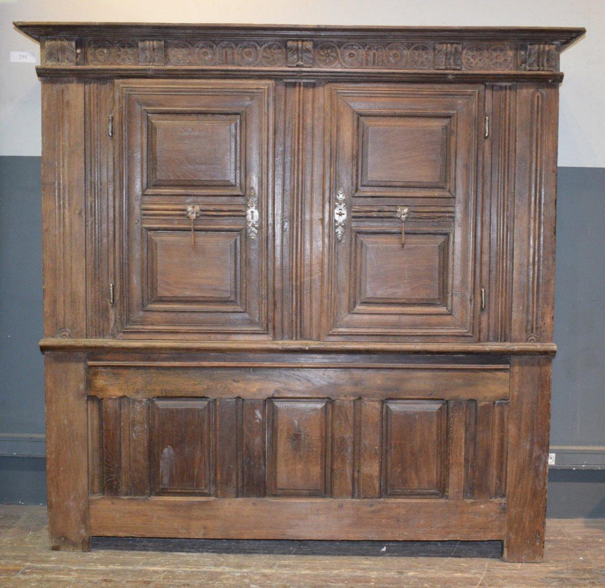 Sacristy Furniture In Chene XVI Eme Century