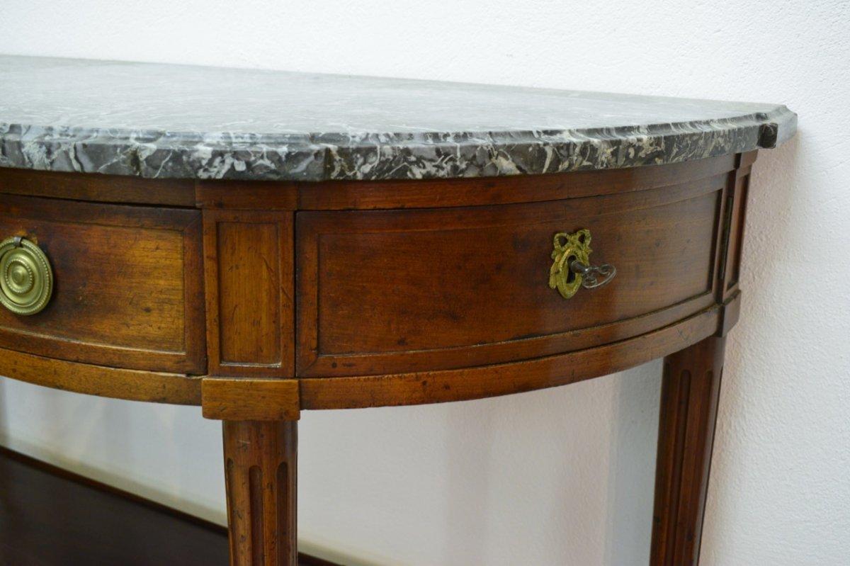 Console Half Moon D Louis XVI Mahogany-photo-4